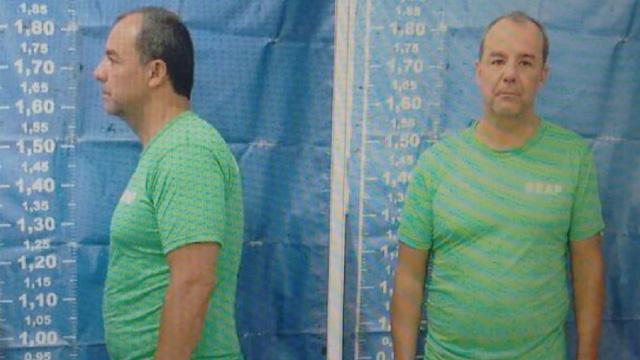 O ex-governador Cabral no dia de sua prisão