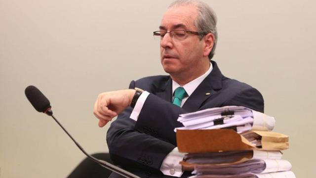 Eduardo Cunha se prepara para fazer defesa no Conselho de Ética da Câmara - Andre Coelho / O GLOBO